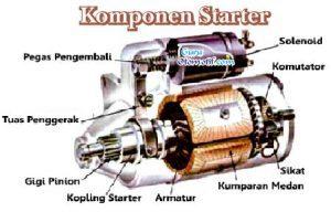 9 Komponen Starter Mobil dan Fungsinya